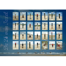 Strandpalen van Texel op canvas